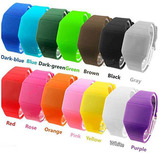 LED silicon watches