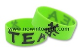 One inch color filled silicon    bracelets
