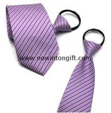 Polyester necktie with zipper